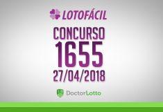 LOTOFÁCIL 1655 | RESULTADO 27/04/2018