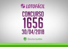 LOTOFÁCIL 1656 | RESULTADO 30/04/2018