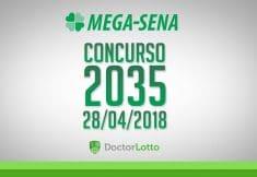 MEGA-SENA 2035   RESULTADO 28/04/2018