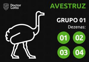 Grupo 01 - dezenas do Avestruz - Jogo do Bicho