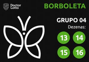 Grupo 04 - Dezenas da Borboleta - Jogo do Bicho