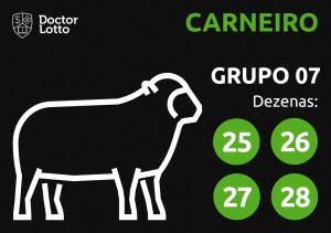 Grupo 07 - Dezenas do Carneiro - Jogo do Bicho