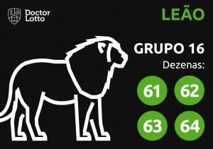 Grupo 16 - Dezenas do Leão - Jogo do Bicho
