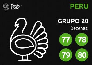 Grupo 20 - Dezenas do Peru - Jogo do Bicho