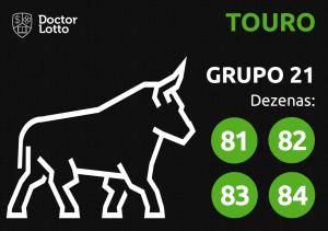 Grupo 21 - Dezenas do Touro - Jogo do Bicho