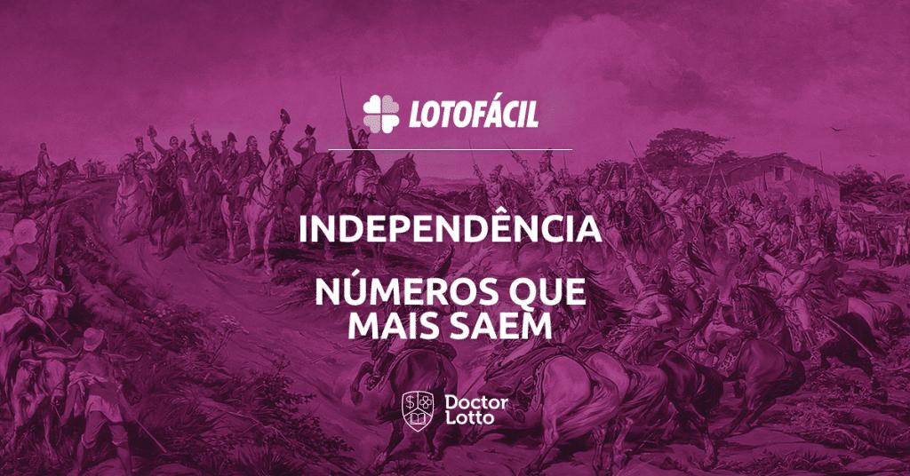 Números sorteados na Lotofácil da Independência