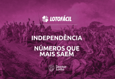 Números que mais saem na Lotofácil da Independência
