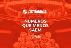 números que menos saem na lotomania