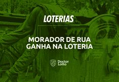 morador de rua ganha na loteria e busca bilhete premiado no lixo