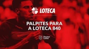 programação loteca 840