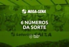 6 números da sorte na Mega-Sena
