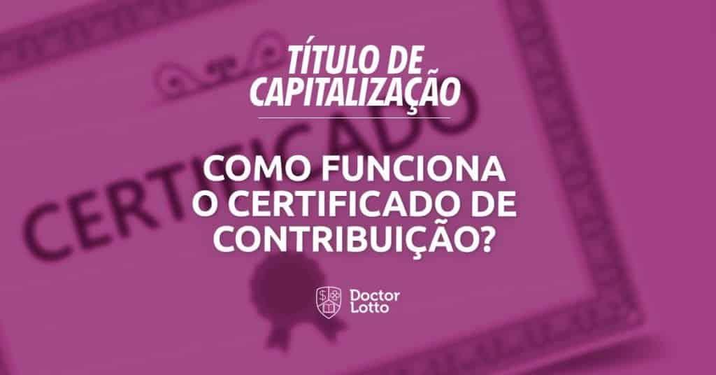 Certificado de contribuição