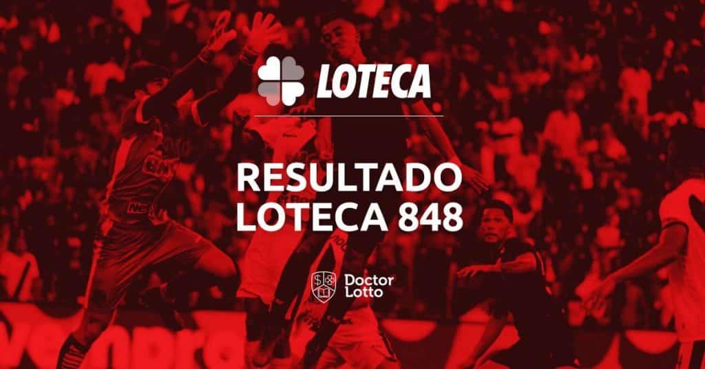 resultado loteca 848 programação