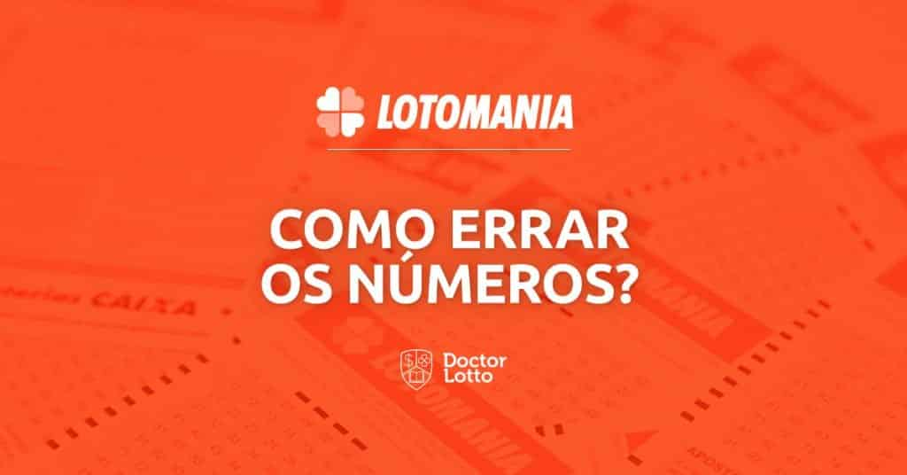 como errar todos os números da lotomania