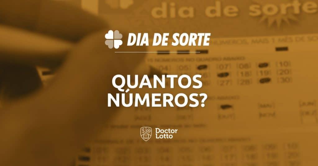 quantos números posso jogar na dia de sorte