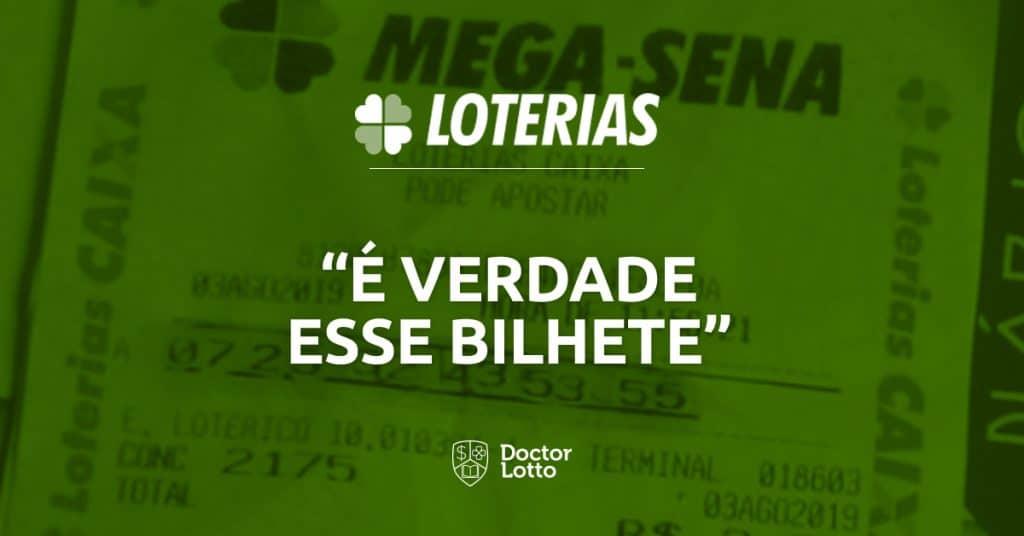bilhete falso Mega-Sena