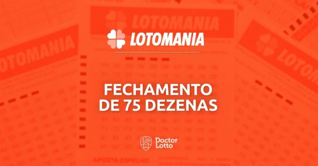 fechamento 75 dezenas garantindo 16 pontos lotomania