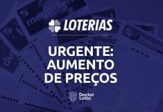aumento de preços das loterias