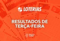 Loterias de terça-feira: Dupla Sena 2149, Lotomania 2121, Timemania 1555 e Dia de Sorte 374