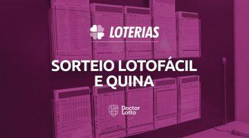 sorteio da Lotofácil 2099 e Quina 5433