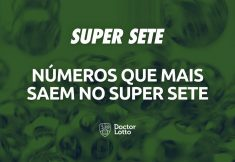 números que mais saem no Super Sete