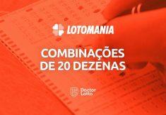 combinações de 20 dezenas da Lotomania