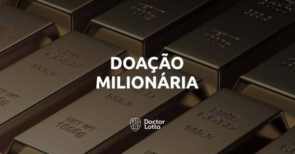 ganhadora da loteria vai doar US$1 milhão