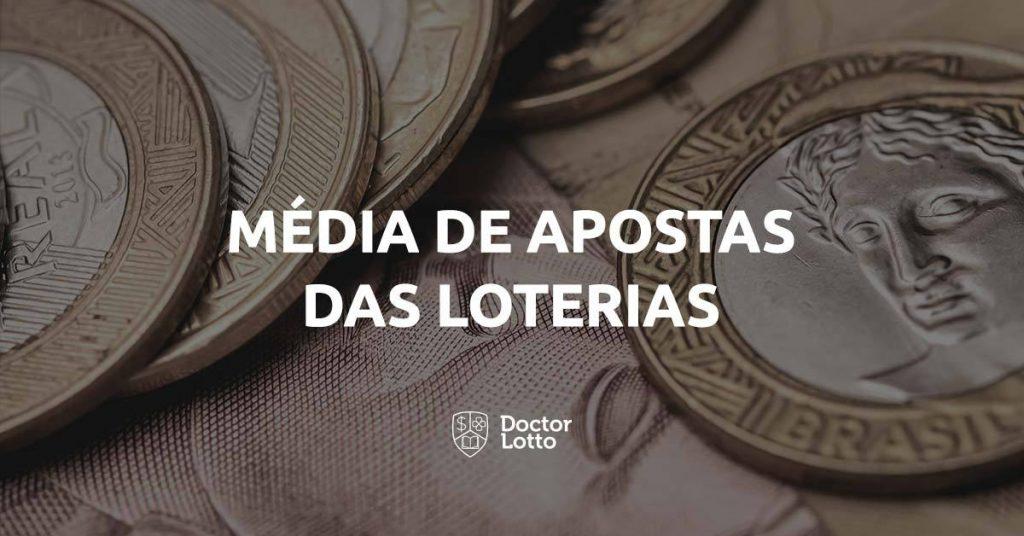 média de apostas das loterias