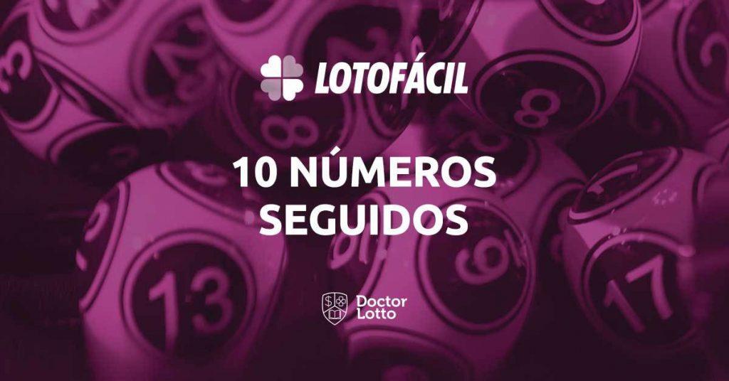 Sequência de 10 números na Lotofácil